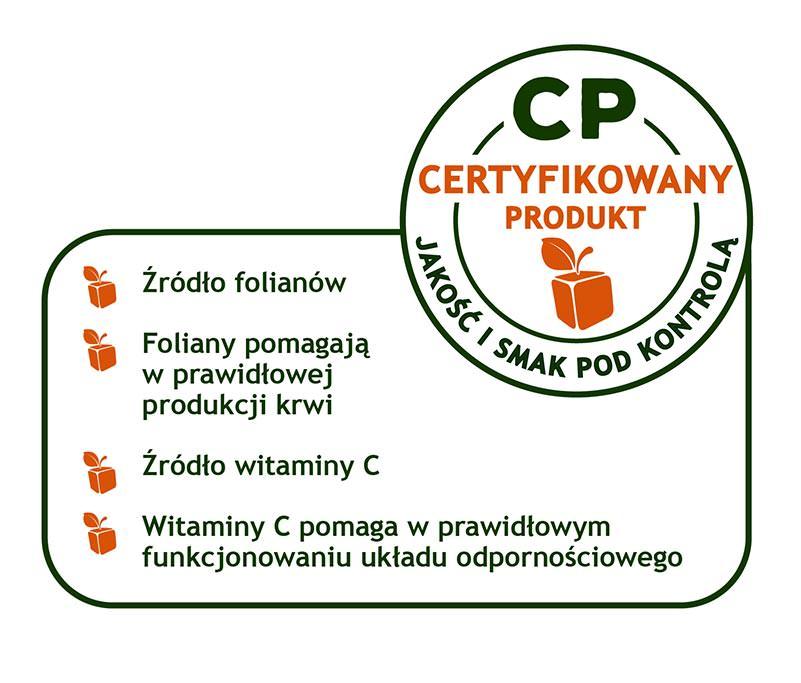 Etykieta certyfikowany produkt